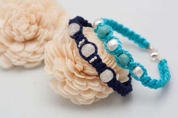Armband mit BergkristallArmband mit Türkis