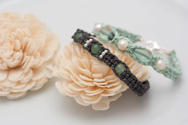 Armband mit Perle & FluoritArmband mit Fluorit