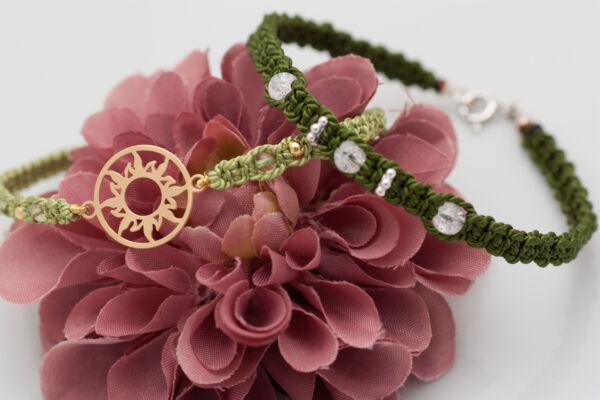 Armband mit Sonne / PeridotArmband mit Bergkristall